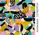seamless vector art pattern... | Shutterstock .eps vector #1176019714
