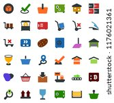colored vector icon set  ... | Shutterstock .eps vector #1176021361