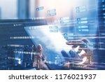 blockchain technology concept... | Shutterstock . vector #1176021937