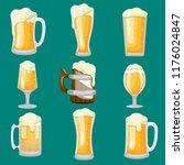 kind of beer glass stock vector ... | Shutterstock .eps vector #1176024847