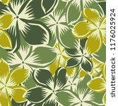 frangipani plumeria flowers... | Shutterstock .eps vector #1176025924