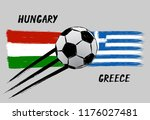 flags of hungary and greece   ... | Shutterstock .eps vector #1176027481