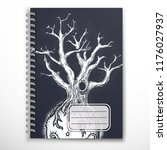 notebook cover template with...   Shutterstock .eps vector #1176027937