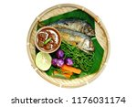 tradition thai food   nam prig... | Shutterstock . vector #1176031174