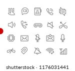 web   mobile icons    red point ... | Shutterstock .eps vector #1176031441