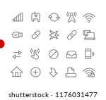 web   mobile icons    red point ... | Shutterstock .eps vector #1176031477