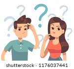 young troubled couple. confused ... | Shutterstock .eps vector #1176037441