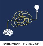 messy complicated way. confused ... | Shutterstock .eps vector #1176037534