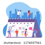 people and calendar.... | Shutterstock .eps vector #1176037561
