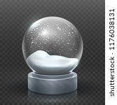 snow globe. christmas holiday... | Shutterstock .eps vector #1176038131