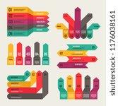 origami infographic. workflow... | Shutterstock .eps vector #1176038161