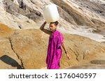 girl of oriental appearance in... | Shutterstock . vector #1176040597