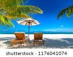 exotic tropical beach banner as ...   Shutterstock . vector #1176041074