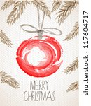 merry christmas card with... | Shutterstock .eps vector #117604717
