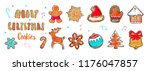 colorful merry christmas ... | Shutterstock .eps vector #1176047857