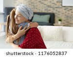 woman after chemotherapy... | Shutterstock . vector #1176052837