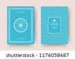 christmas greeting card design... | Shutterstock .eps vector #1176058687