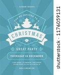 christmas party poster design... | Shutterstock .eps vector #1176059131