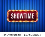showtime. text with electric... | Shutterstock .eps vector #1176060037