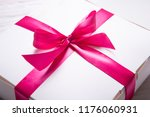 white carton gift box   Shutterstock . vector #1176060931