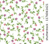 seamless pattern with pink and... | Shutterstock . vector #1176061621