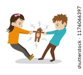 terrible twos   toddlers who... | Shutterstock .eps vector #1176066397