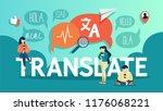 online translator in mobile... | Shutterstock .eps vector #1176068221
