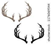 antlers vector illustration in... | Shutterstock .eps vector #1176069544