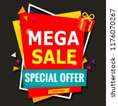 mega sale special offer banner | Shutterstock .eps vector #1176070267