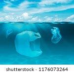 sea or ocean underwater with... | Shutterstock . vector #1176073264