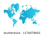 simple world map | Shutterstock .eps vector #1176078601