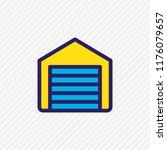 vector illustration of garage... | Shutterstock .eps vector #1176079657