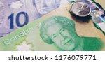 canadian dollar closeup | Shutterstock . vector #1176079771
