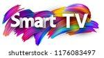 smart tv sign with spectrum... | Shutterstock .eps vector #1176083497