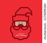 santa clause with red nose for...