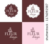 set of labels or stickers .... | Shutterstock .eps vector #1176092587