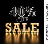 40  off sale text background.... | Shutterstock . vector #1176092851