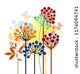 decorative berries on the...   Shutterstock .eps vector #1176094741