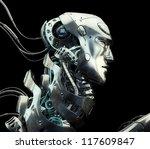 Metal Serious Robot With...