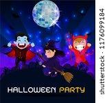 halloween ghosts charector.... | Shutterstock .eps vector #1176099184