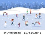 cute romantic couples and... | Shutterstock .eps vector #1176102841