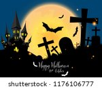 halloween creepy forest with... | Shutterstock .eps vector #1176106777
