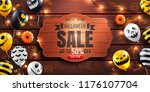 halloween sale promotion poster ... | Shutterstock .eps vector #1176107704