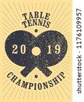 table tennis championship... | Shutterstock .eps vector #1176109957