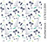 summer seamless pattern design... | Shutterstock .eps vector #1176111304