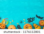halloween holiday background... | Shutterstock . vector #1176112801