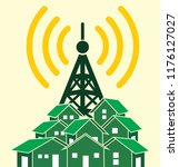 tower transmitter illustration | Shutterstock .eps vector #1176127027