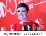 olivia colman poses with the... | Shutterstock . vector #1176131677