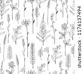 vector seamless pattern with... | Shutterstock .eps vector #1176137494