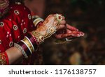 indian bridal showing hand... | Shutterstock . vector #1176138757